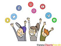 Anak-anak yang ceria di clip art internet, gambar, ilustrasi