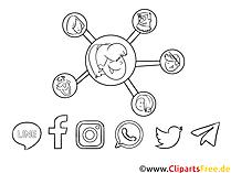 Profil clip art hitam dan putih