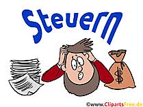 Steuererklärung Clipart, Illustration, Grafik, Bild
