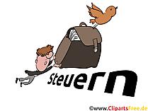 Steuern Illustration, Steuererklärung Bild-Clipart