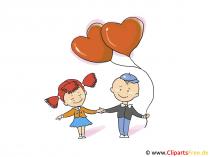 Kocham Ciebie - Ich liebe Dich - Karte