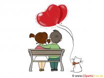 Liebesbotschaft für Verliebte