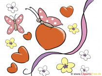 Liebeserklärung mit kostenlosen Cliparts