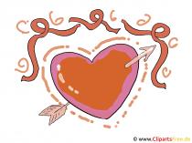 Love Bild Herz mit einem Pfeil durch