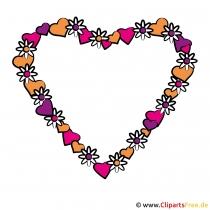 Valentinstag Bildrahmen kostenlos