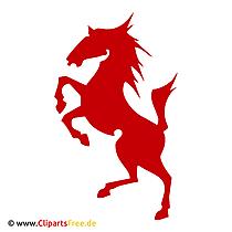 Das rote Pferd Bild-Clipart SVG