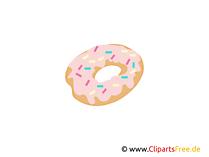 Donat, Bäckerei, Backware, Süß Clipart, Bilder, Grafiken gratis