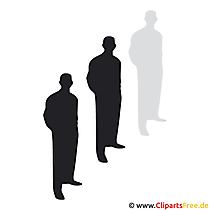 Grup insanlar clipart Vektör formatında resim