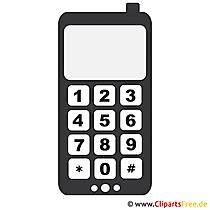 Handy Cipart-Bild in der Rubrik kostenlose Vektoren