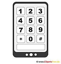 Smartphone Bild - Clipart Vektor download