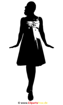 Silhouette Braut Clip Art SVG