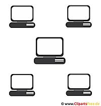 Vektorgrafik kostenlos - Computer Netzwerk