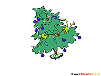 Bild schöne Weihnachten - Weihnachtsbaum geschmückt
