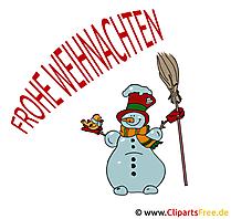 Bild Weihnachten lustig mit Schneemann