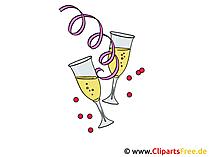 Foto's Partij champagneglazen