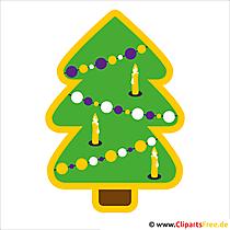 Cartoon Tannenbaum Weihnachtsbild kostenlos