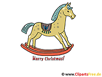 Kerstafbeeldingen - Paardjaar