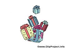 クリスマスクリップアートのGeschnke  - 画像