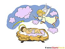 Grafik-Bild Weihnachtskrippe