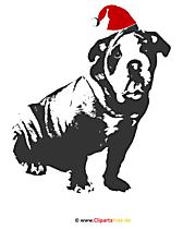 犬の新年イメージクリップアート