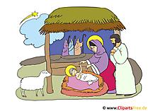 キリスト降誕のクリスマスクリップアートイラスト