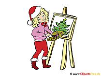 絵画やクリスマスイラストのいじり