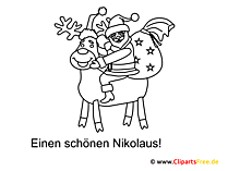 Nikolaus Ausmalbild