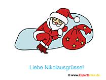 Nikolaus Clip Art, Bild, Grafik, Illustration, Image gratis