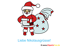 Nikolaus Cliparts, Bilder, Pics, Illustrationen