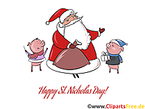 Send ecard clipart for St. Nicholas Day free of charge by email