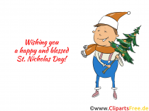 Gratis julemanden og julillustration
