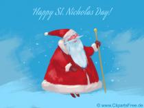 Sjov julemanden lykønskningskort gratis at udskrive