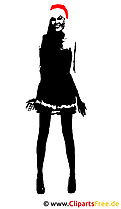 Santa Girl Clipart