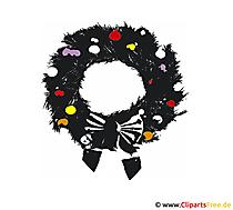 Weihnachs Kranz Bild-Clipart