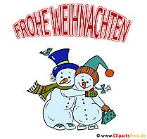 Weihnachtliche Bilder - Lustige Schneemänner