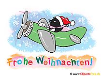 クリスマスクリップアート - メリークリスマスのグリーティングカード