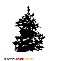 クリスマスツリーのクリップアートPNG