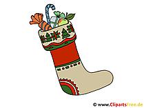 Weihnachts Clip Art Schuh mit Geschenken