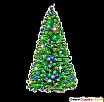 Arbre de Noël artificiel avec illustration de lumières, photo, clipart