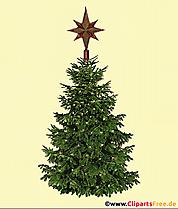 Illustration vintage d'arbre de Noël