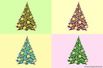 Arbres de Noël illustration pop art