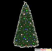 Photo d'arbre de Noël, illustration, clipart