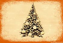 Illustration vintage de sapin de Noël