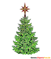 Clipart d'arbre de Noël