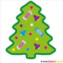Weihnachtsbaum Bild - Silvester Cliparts gratis