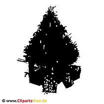 Weihnachtsbaum SIlhouette Clipart