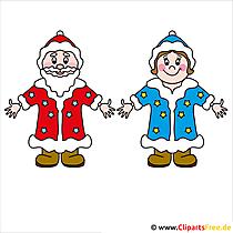 クリスマス画像無料父フロストとSnegurochka