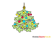 Kerst clipart fir tree