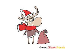 Kerst eland afbeelding, illustraties