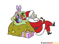 Weihnachtskarten selber basteln mit unseren kostenlosen Clipart-Bildern